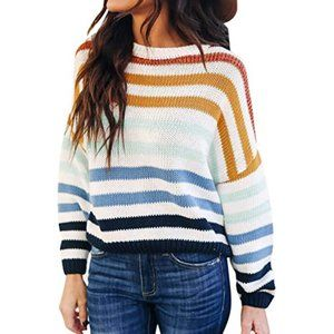 Youdiao Lightweight Striped Crewneck Sweater